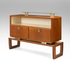 Paolo Buffa - An Italian Teak, Parchment and Brass Mounted Cabinet | InCollect