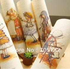 British Chicks cotton linen quilt patchwork fabric linen cotton quilting blocks 20x20cm Applique sewing textile 6pcs US $30.00