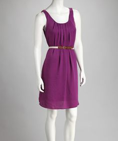 For an enchanting ensemble that's right on trend, opt for a dress that's classically feminine yet comfortable. Perfectly placed pleats and a belted waist pull this piece together. Girls Dresses, Summer Dresses, Belted Dress, Purple Dress, Cool Girl, Spring Fashion, Cute Outfits, Feminine, Fashion Outfits
