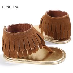 >> Click to Buy << HONGTEYA T style PU Suede Leather Summer Tassel baby moccasins Soft soled Anti-slip for Baby infant Baby fashion sandals #Affiliate