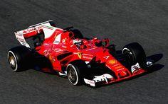 壁紙をダウンロードする 式1, 2017, スクーデリア-フェラーリSF70H, レーシングカー, フェラーリ