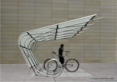 Bike shelter by Duo Guard, NYC. Visit the slowottawa.ca boards  http://www.pinterest.com/slowottawa/