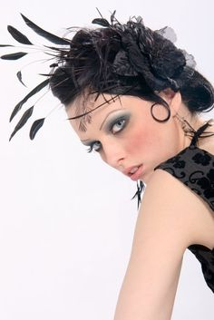 love it all the makeup and feathers