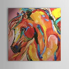 Abstract/Animal Oil Painting Hand-Painted Canvas Wall Art Other Artists One Panel Ready to Hang – SEK Kr. 749