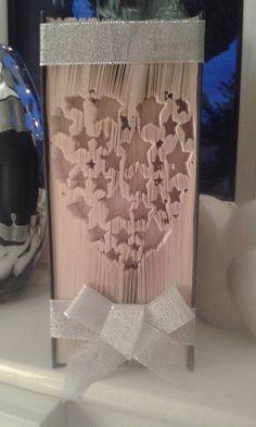 Heart from Stars CUT & FOLD Book Folding Pattern