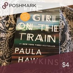 The girl on the train book The girl on the train book PAPERBACK book Other