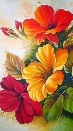 Flower drawing, watercolor flowers, flower art, watercolor paintings, f Art Floral, Watercolor Flowers, Watercolor Paintings, Flower Wallpaper, Fabric Painting, Pink Painting, Flower Painting Canvas, One Stroke Painting, Artist Painting
