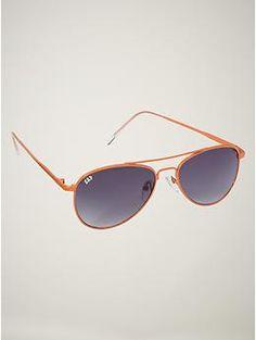 gap aviator sunglasses with orange metal frames