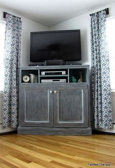 build your own get out of the way of the tv console, entertainment rec rooms, painted furniture