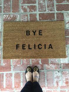 The Bye Felicia Door Mat. As seen on BUZZFEED. Bye by TheJarShoppe