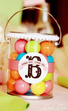party favors, birthday parti, girl baby showers, new homes, project ideas, parti favor, parti idea, bubble gum, gumbal parti