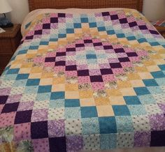 Trip around the World top Quilting Board