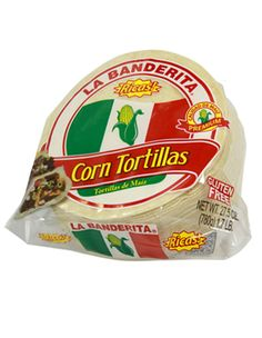 A must have item if you're gluten free: Corn Tortillas. They're cheap, longlasting, and usesful.  Use for tacos, enchiladas, or quesadillas. They also work great as wraps for hotdogs, tuna salad, chicken salad, BBQ chicken or pork, meat and cheese, fajitas, and my personal favorite: filled with mozzarella and pepperoni and dunked in red sauce. You can also cut and bake them to make your own tortilla chips.