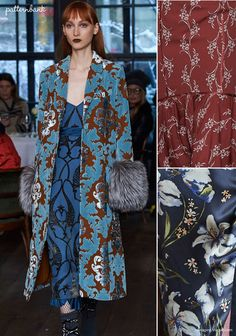 Beautiful old world interiors and damask patterns seen on the Fall 2017 Cinq à Sept collection. See Cinq à Sept's full collection on Vogue.com Watch out fo