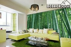 Bamboo forest wallpaper Wall Decals  Indoor wall Mural