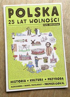 Polska - mapa obrazkowa by Aleksandra i Daniel Mizielińscy http://www.hipopotamstudio.pl/