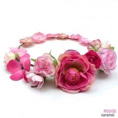 Couronne de fleur. http://www.rougecaramel.com/serre-tete-fleur/2952-couronne-de-fleur-serre-tete-mariage-ceremonie-rose-.html