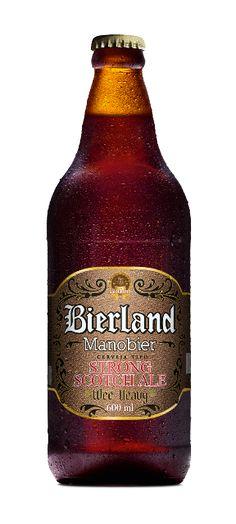 Cerveja Bierland Manobier Strong Scotch Ale, estilo Strong Scotch Ale, produzida por Cervejaria Caseira, Brasil. 8.5% ABV de álcool.