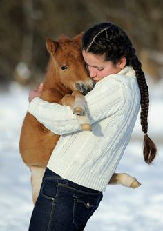 Baby horse hug…aww! This is one of the most adorable babies ever! He's so snuggly and kissable