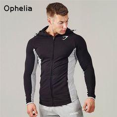 Gymshark hoodies men hooded sweatshirts fashion Muscle Brothers hoodie men Muscle hombre tight hoodie Fitness clothing