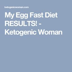 My Egg Fast Diet RESULTS! - Ketogenic Woman