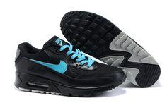 official photos 5ae22 f4b68 Nike Air Max 90 Hommes Noir Mode Blue Shoes