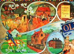 The left hand side of Broughton Mural on the wall at McDonald Road Library, Edinburgh