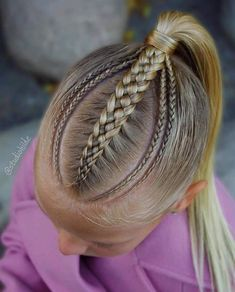 braids braids in 2020 Lil Girl Hairstyles, Pretty Hairstyles, Cut My Hair, Hair Cuts, Game Day Hair, Girl Hair Dos, Natural Hair Styles, Short Hair Styles, Braided Hairstyles Tutorials
