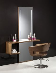 Wall-mounted dressing table / backlit / for hairdressers LEDY 2034 BMP Srl