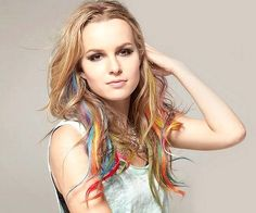 Brigit Mendler. I am in love with her music. but i am also loving the colors in her hair.