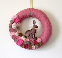 Easter Bunny Rabbit Wreath - DIY or Buy
