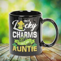 My Lucky Charms Call Me Auntie St Patrick's Day Great t-shirts, mugs, bags, hoodie, sweatshirt, sleeve tee gift for aunt, auntie from niece, nephew or any girls, boys, children, friends, men, women on birthday, mother's day, father's day, Christmas or any anniversaries, holidays, occasions.