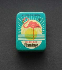 Vintage-Gramophone-Needles-Supraphon-Flamingo-Tin-200-needles-never-used