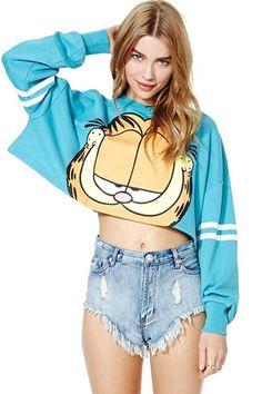 Garfield Crop Top