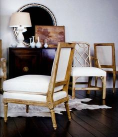 | P | Antique with Modern - Chair Assortment via India Hicks