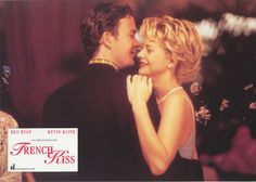 Directed by Lawrence Kasdan and starring Meg Ryan, Kevin Kline, Timothy Hutton, Jean Reno, François Cluzet. Jean Reno, French Kiss Film, Meg Ryan Movies, Meg Ryan Hairstyles, Timothy Hutton, Light Ombre, Interview, Falling Back In Love, Short Curls