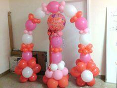 Balloon arch and column