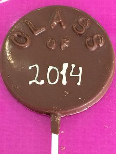 Class of 2014 chocolate on a stick
