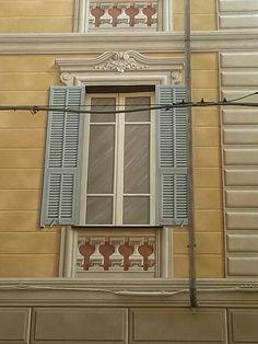 Ghirigori, Alessandra Borelli, facciata dipinta, finta finestra
