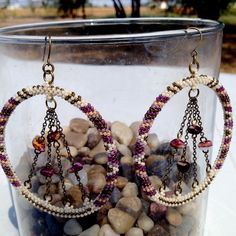 Beaded Spiny Oyster Beaded Statement Earrings by Beyond Buckskin Boutique