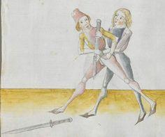 Lecküchner, Hans: Kunst des Messerfechtens Nordbayern, 1482 Cgm 582 Folio 292