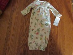 NEW WITH TAG  Carter's Girl Sleeper Gown Preemie, Floral Pattern #Carters #OnePiece. eBay item number:131862032354