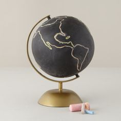 I'm obsessed with this chalkboard globe. Possible DIY?