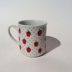 Vintage Schmidt Brazil Porcelain Strawberry Mug/Tea/Coffee Cup/So Berry Sweet by LOVELADYBIRDVINTAGE on Etsy