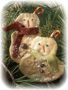 Primitive Snowman Pocket Ornies Epattern by libertycreek on Etsy, $7.50