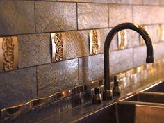 Image result for tin ceiling tiles as backsplash
