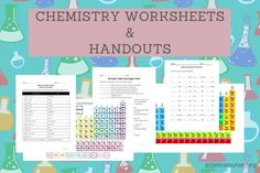 Chemistry Worksheets and Handouts (PDF for Printing)