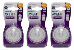 From 1.84:Multibuy 3x Avent Natural Teats 4 Hole Fast Flow 6 Mnth (2 Pack)