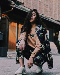 Indonesian Women, Celebs, Celebrities, Daily Fashion, My Idol, Korean Fashion, Ulzzang, Bomber Jacket, Photoshoot