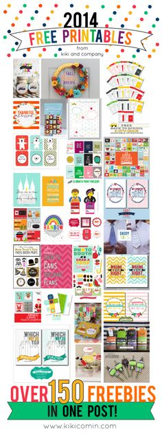Kiki and Company: A Year of Free Printables // 2014 Edition